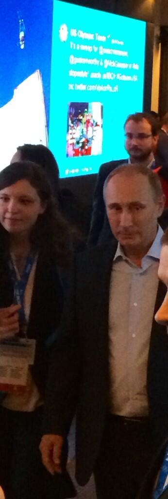 Hey it's Putin, at the USA house. #Sochi2014 #Olympics http://t.co/sXJb5XlmVj