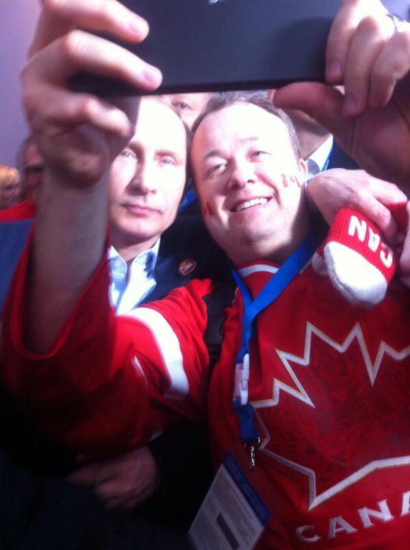 Putin Steals A Selfie At Sochi (PHOTOS)