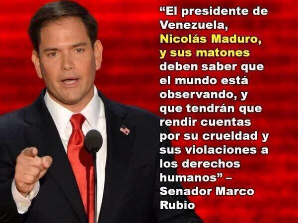 "Marco Rubio Quotes Marco Rubio On Twitter ""#lasalida #vamosvenezuela Nicolasmaduro ."