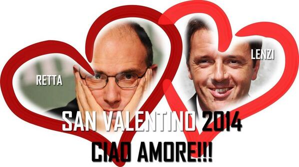Thumbnail for #Renzi #Letta twitter live love story