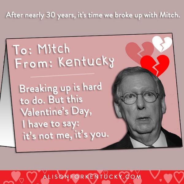 UPDATE: 1109 have now told @Team_Mitch it's over for Valentine's Day. Add your name: http://t.co/SLCe57QRUz #kysen http://t.co/sIayvMFMnD