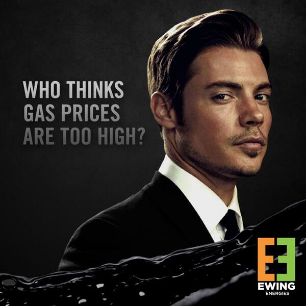 Come Feb. 24, Ewing Energies will lower gas prices to undercut the competition. Now that's power... http://t.co/ZPl3nW0Lqb