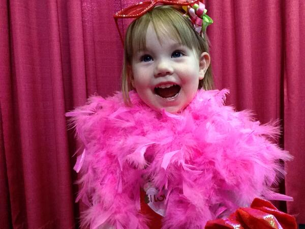 Olivia Zink, 2, at the Upic photo booth #wkddradiothon http://t.co/lX1pubX3dY