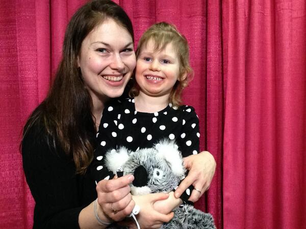 Shannon Kovach with her daughter, Nora, shared their story on air. #wkddradiothon http://t.co/sMWa7GMIT1