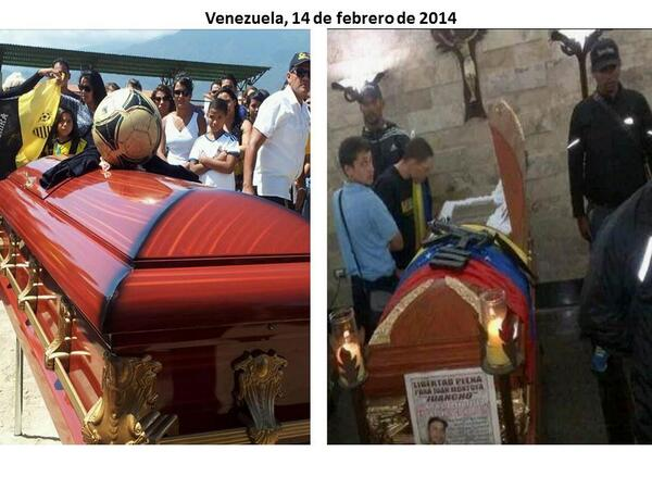 RT @fdelrinconCNN : Sobre ataud de Bassil Da Costa un balón de fútbol;sobre el de Juan Montoya una ametralladora. http://t.co/ELfIcHSabM