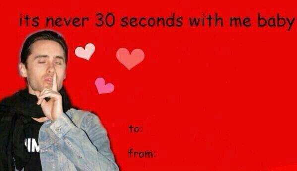 JARED LETO on Twitter Send me any funny JL valentines cards u