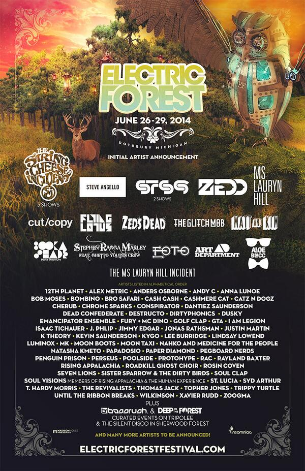 YOU are our greatest love. The Forest is thrilled to present the initial lineup for #EF2014, with much more to come! http://t.co/gA2vr2Z6zZ