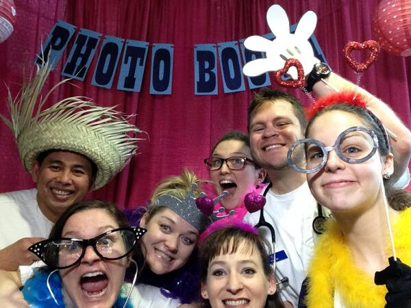 KSU College of Nursing students dropped by the Upic photo booth. #wkddradiothon @btown53 http://t.co/T2AbeKHk4f