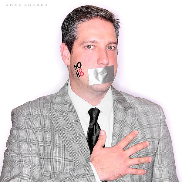 I am proud to join the @NOH8Campaign and continue the fight for marriage and gender #equality http://t.co/PdTNlfbfsK
