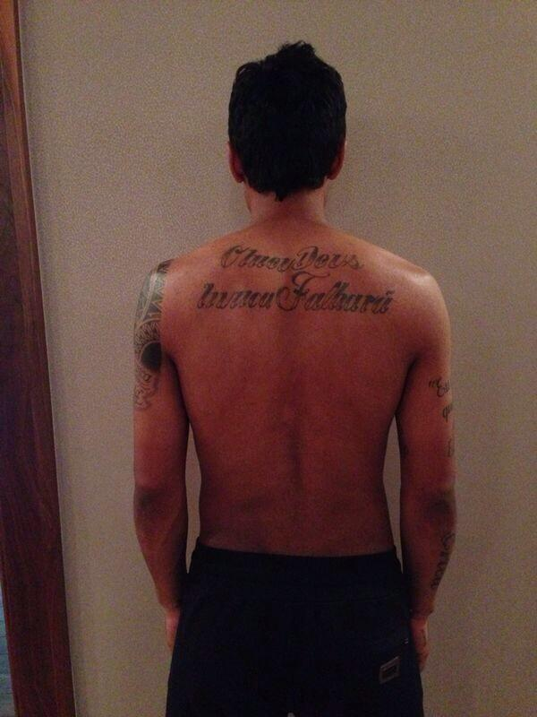 Spurs Paulinho supports Tinga with new My God Will Never Fail tattoo, along with No To Racism message