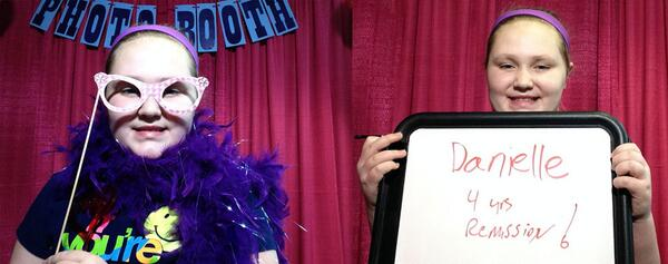 Danielle found out today she is 4 years cancer free! #wkddradiothon http://t.co/0eHV09m9ct