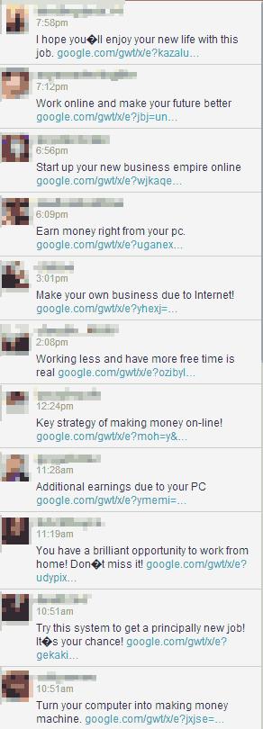 #Warning! Massive Twitter Spam attack uses Google links in DMs. Don't click! Pls RT http://t.co/lwvAj6OVjU