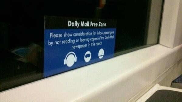 "Anti-""Daily Mail"" signs appear all over UK's rail network http://t.co/zlGq00SRBw http://t.co/UwMEpg8ZkA /via @BuzzFeedUK"