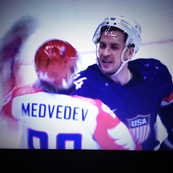 Captain Cally not taking any nonsense from anyone on Team Russia especially @ovi8 #USA @usahockey @Sochi2014 http://t.co/S13temqsys