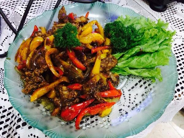 Beef Black Pepper hasil masakan chef Demo Masak