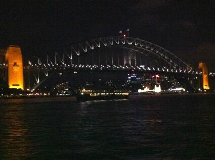 To cross the water, the land, the home of many: the Gadigal, Cammeraygal, Eora, Wangal peoples, is a grand sight. http://t.co/HzL7NllMoO