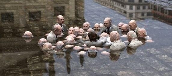 mt  @AuroraJellybean Street sculpture by Isaac Cordal provides image of  politicians' response to climate change... http://t.co/coMyWYfUBx