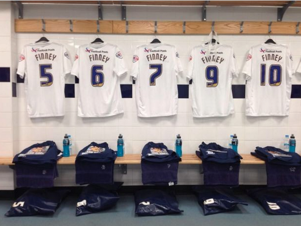 Class Gesture! Whole Preston team will wear Finney on the back of their shirts today in memory of club legend