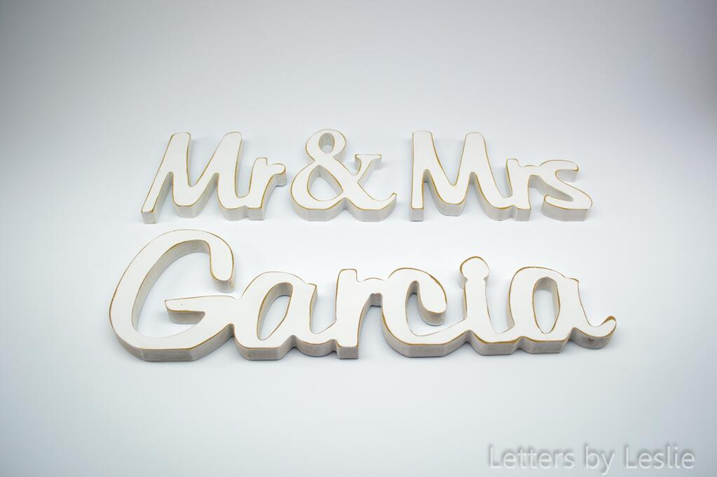 Mr And Mrs Large Wooden Letters: Letters By Leslie (@LettersbyLeslie)