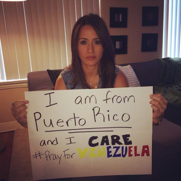 En solidaridad con ustds pq he compartido mi vida y mi día a día con Venezolanos y los he visto llorar d impotencia! http://t.co/t6w9GbdrRY