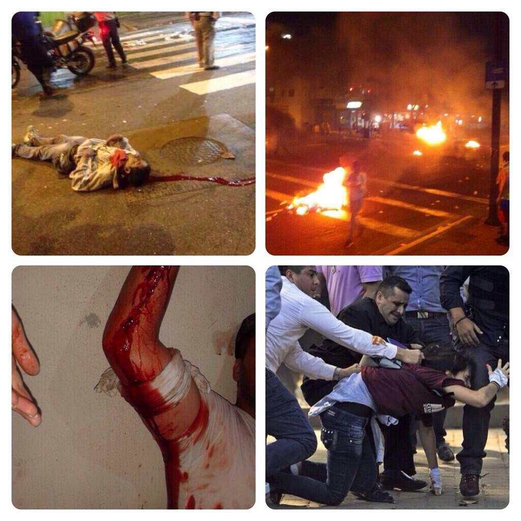 Cenas da brutalidade comunista contra o Povo Venezuelano