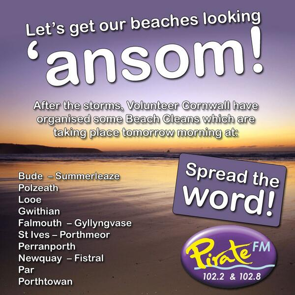 People of #Cornwall - PLEASE RT. Your beaches need you tomorrow morning! #Openforbusiness http://t.co/ccyop6wabS http://t.co/Cu9D2ipFEj