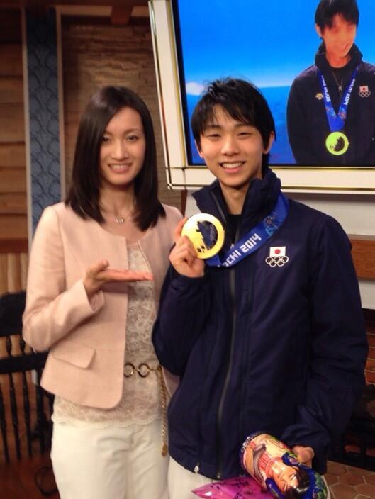 I'm very proud of you Yuzu!! オリンピック1stトライでの快挙凄いね‼︎‼︎‼︎ 本当に本当におめでとう☆*:.。. o(≧▽≦)o .。.:*☆ http://t.co/aoCJFIYvHx