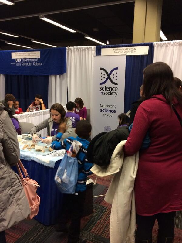Great job @SiSNorthwestern with #famscidays at #AAASmtg. Large crowds, happy kids, rotating exhibits. Nicely done! http://t.co/jqNgMqE3im