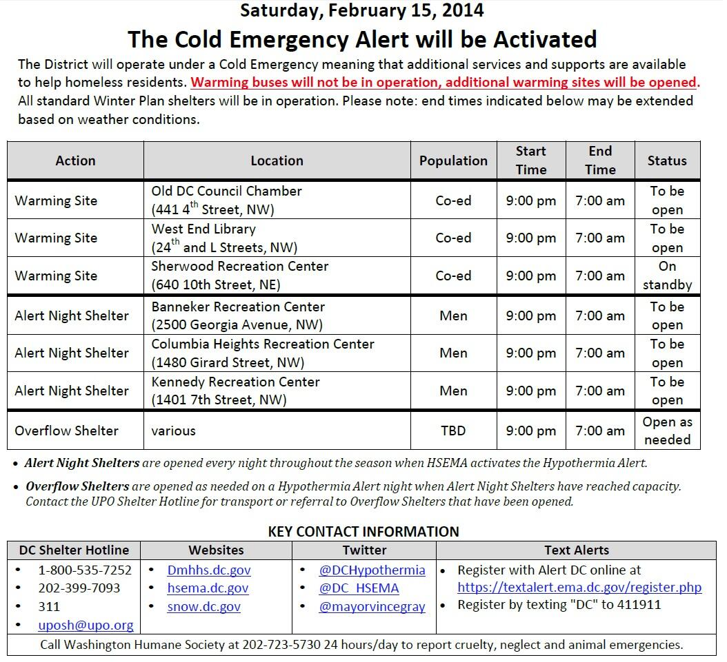 Twitter / DCPoliceDept: Cold Emergency will activate ...