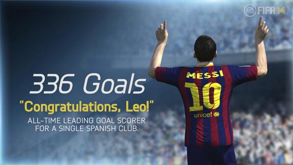 336! Lionel Messi becomes highest goal scorer for a single Spanish club
