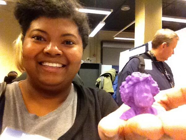 3D printed mini bust, made at @MSIChicago at #FamSciDays. I think it looks like me! http://t.co/xoeZrIresB