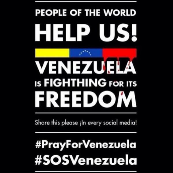Cuanto dolor #Venezuela-Soy Argentina pero mi corazón y oraciones están con ustedes #PrayForVenezuela #SOSVenezuela http://t.co/Z8t2ONjgvy
