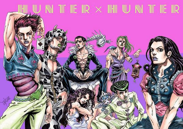 Artist Reimagines Hunter x Hunter As Dragonball Z, Jojo's Bizarre Adventure BgjMHNHCIAAQN0P