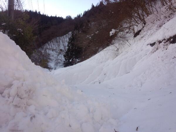 檜原村数馬下地域の雪崩現場。都道が埋まって数馬地区は孤立して3日です。東京都はまったく対応していません。 pic.twitter.com/ES56rfserG