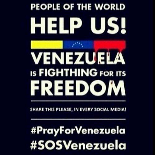 Use social media to truly affect change. People are dying in Venezuela! #SOSVenezuela #PrayForVenezuela http://t.co/6OV0kpOClu