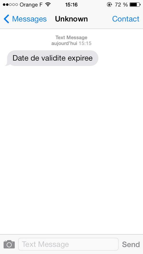 Sms Date De Validité Expirée