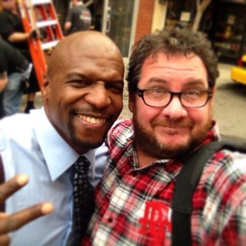I only work with @terrycrews in Brooklyn. So fun! @Brooklyn99FOX #EverbodyHatesChris http://t.co/Ra1SFtQPhr