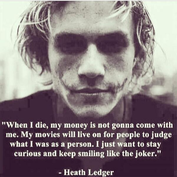 Quote For Someone Who Died Too Young : The joker quotes on twitter quot you died too young