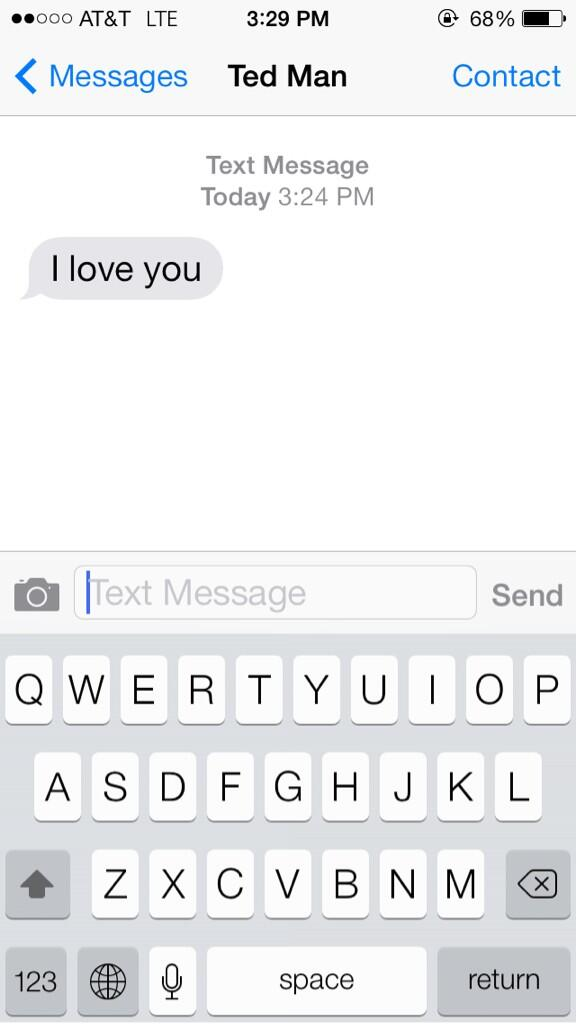 Message saying i love you