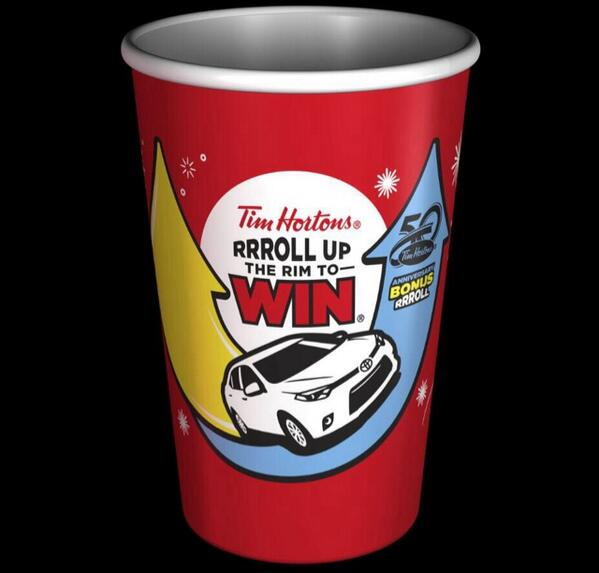 Biggest non Olympic Canadian news of the day. This year you'll be able 2 roll up the rim twice per @TimHortons cup. http://t.co/N379z3Yh79