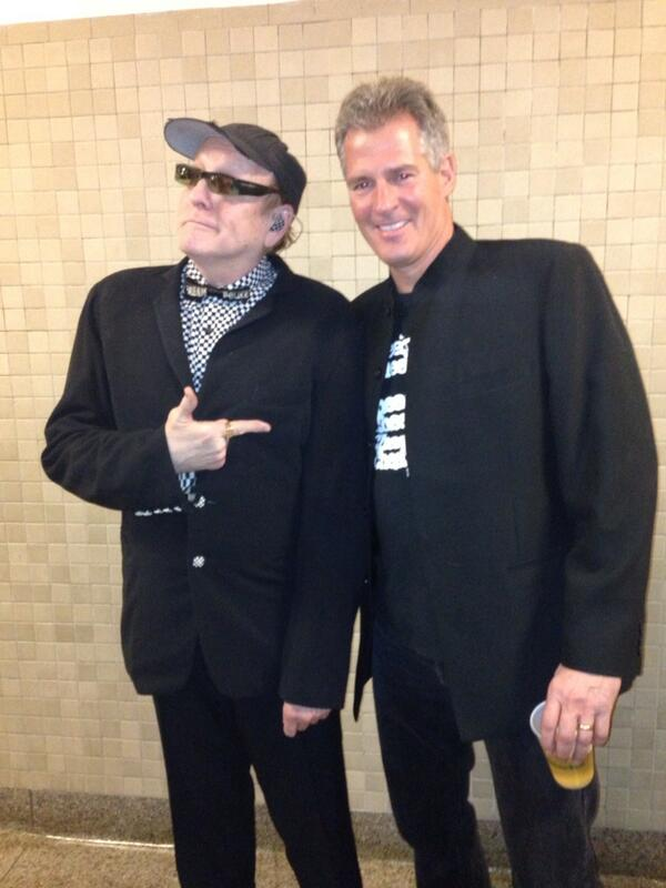 Back Stage with Rick Nielson from Cheap Trick getting ready to perform with the Band. http://t.co/RgOmpOW3kB