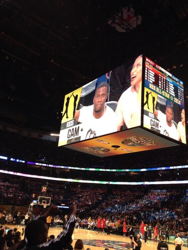 Kevin Hart on Kids Cam. #allstar #nba http://t.co/WAAOgIJ62T