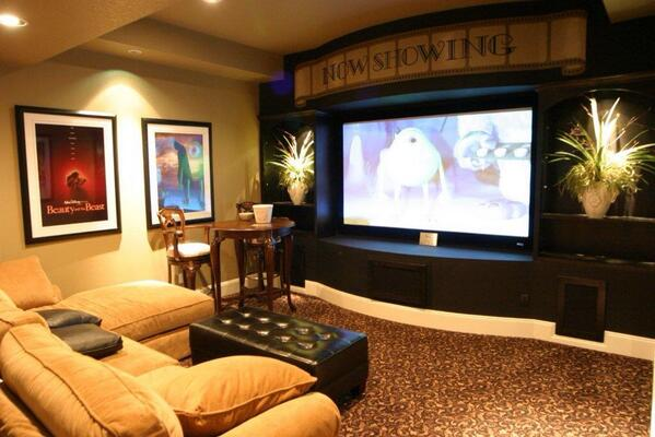 "best basements on twitter: ""basement theater! http://t.co/66vyppetbq"""