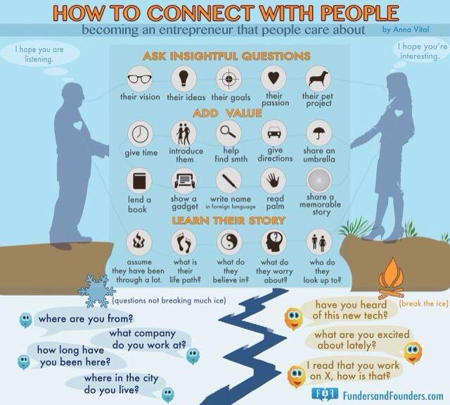 Twitter / JoyAndLife: How to connect with people. ...