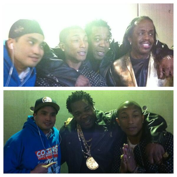 Backstage w/@bustarhymes @pharrell & legendary Verdine White of Earth Wind and Fire #neptunes #nba #nola2014 http://t.co/hMlYjx1Zoq