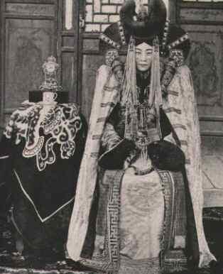 1908年、モンゴル、ハルハ族の高...