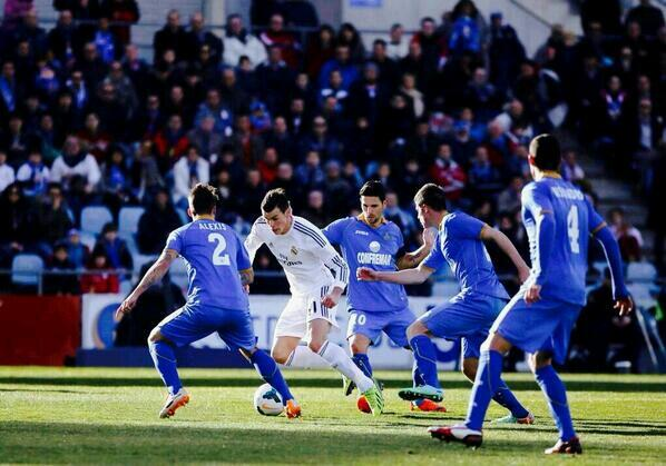 1 assist, several wasted chances: Out of sorts Gareth Bales individual highlights from Getafe 0   Real Madrid 3
