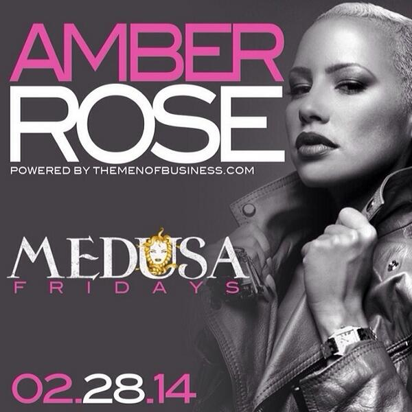 @DaRealAmberRose Hosts The Grand Premiere of #MedusaFridays Friday February 28th!!! Hit me up for tables! http://t.co/orLwX0hwxt