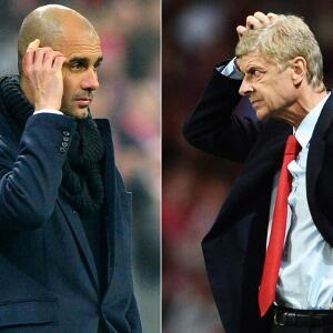 Twitter / thamster7: Pep and Wenger after seeing ...