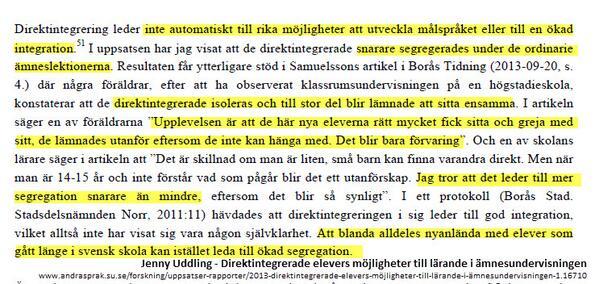 """Tänkvärt: """"Att blanda #nyanlända med elever som gått länge i svensk skola kan istället leda till ökad segregation."""" http://t.co/1yg5plCUkW"""
